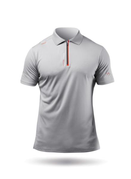 Mens UVActive Zip Sports Polo - Grey