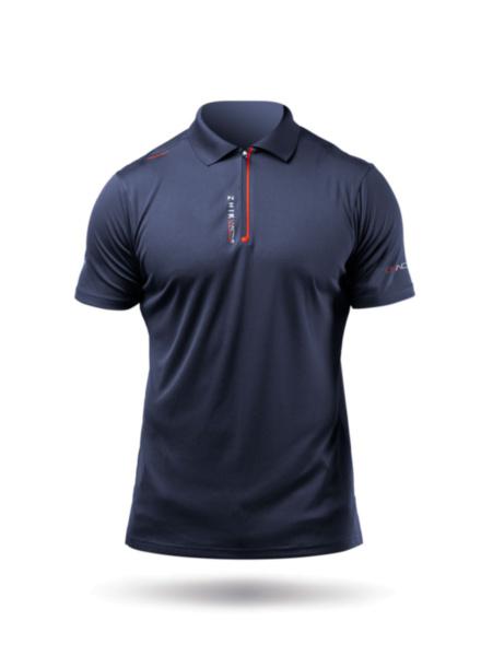 Mens UVActive Zip Sports Polo - Navy