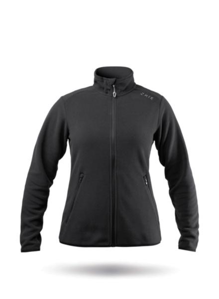 Womens Black Full Zip Fleece Jacket