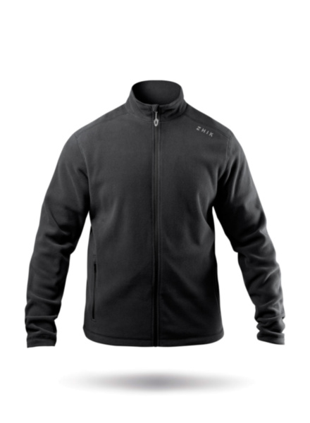Mens Black Full Zip Fleece Jacket