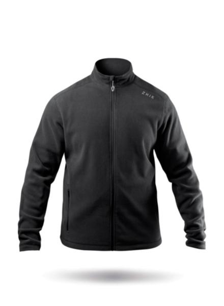 Mens Black Zip Fleece Jacket-SSS