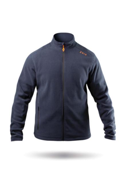 Mens Navy Full Zip Fleece Jacket-SSS