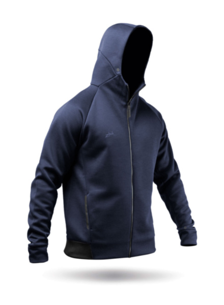 Mens Navy Tech Fleece Hoodie-SSS