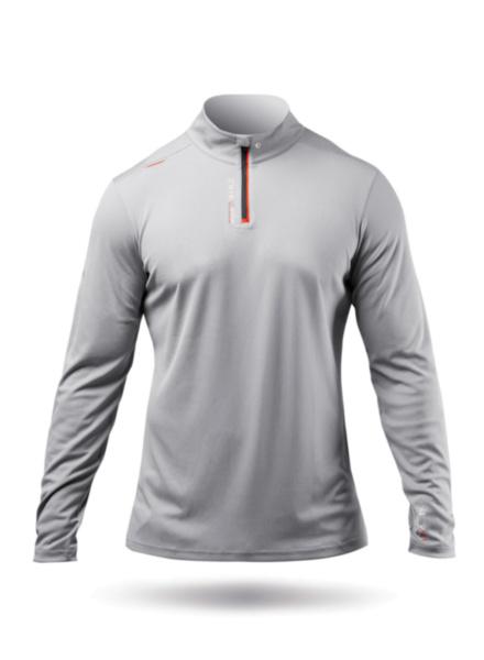 Mens UVActive High Collar 1/4 Zip Top - Grey