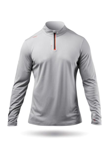 Mens UVActive High Collar 1/4 Zip Top - Grey-SSS