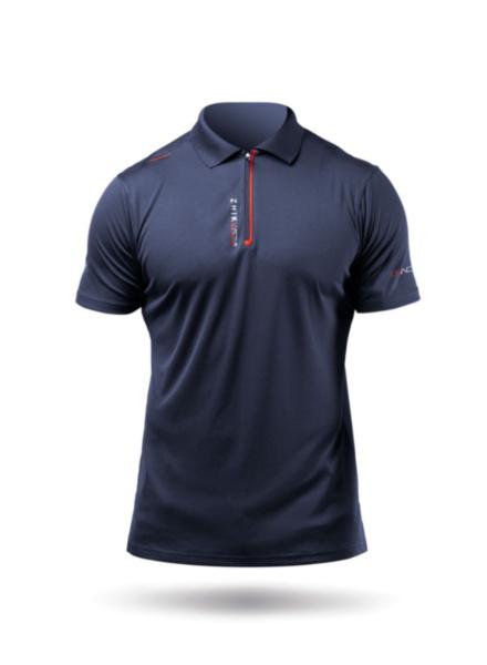 Mens UVActive Zip Sports Polo - Navy-SSS
