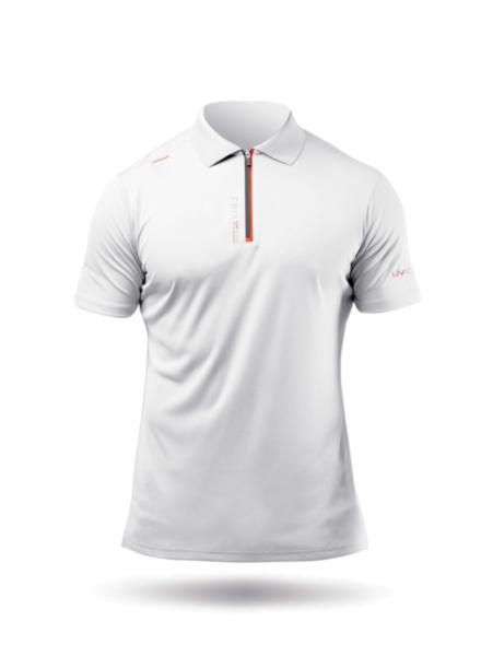 Mens UVActive Zip Sports Polo - White