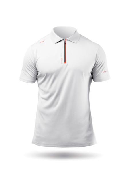 Mens UVActive Zip Sports Polo - White-SSS