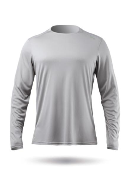 Mens UVActive Long Sleeve Top - Grey-SSS