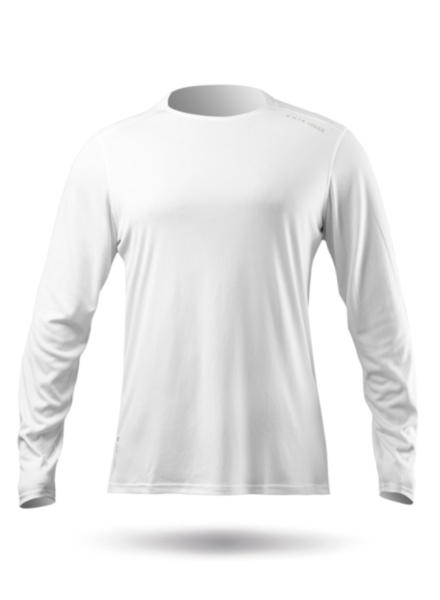 Mens UVActive Long Sleeve Top - White-SSS