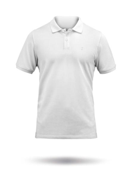 Mens Premium Cotton Polo-WHT-SSS