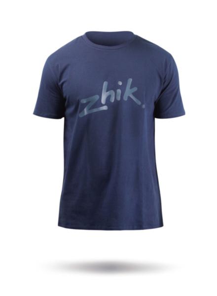 Mens Zhik Logo Cotton Tee - Navy Blue-SSS