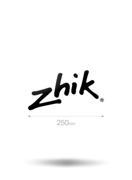 250mm Zhik Vinyl Sticker-BK