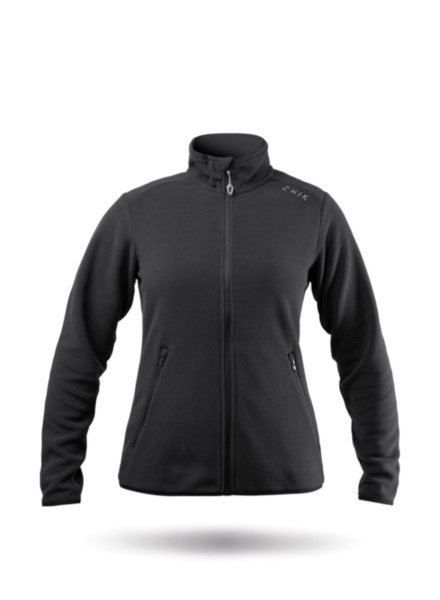 Womens Black Full Zip Fleece Jacket