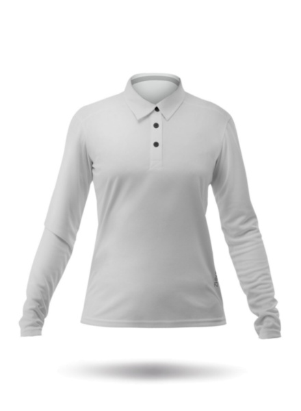 Womens Long Sleeve Zhikdry LT Polo - Ash-XSS
