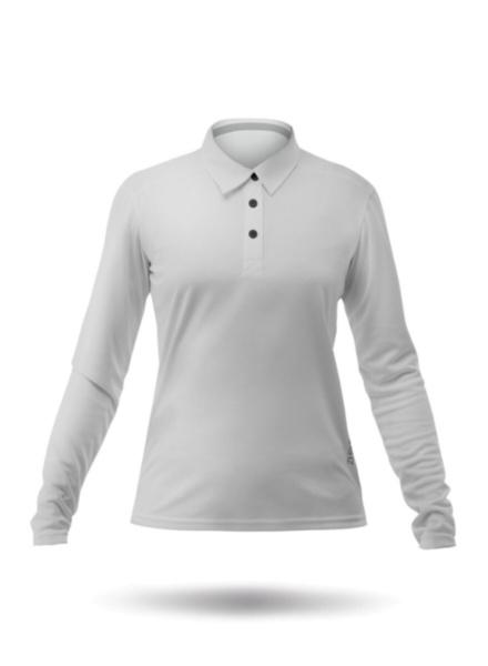 Womens Long Sleeve Zhikdry LT Polo - Ash-XSS