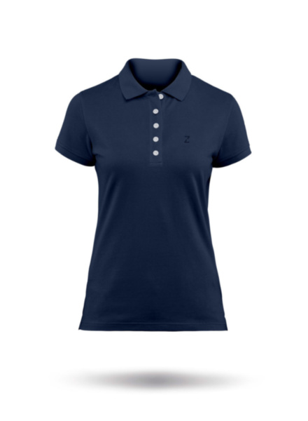 Womens Premium Cotton Polo-NVY-XSS
