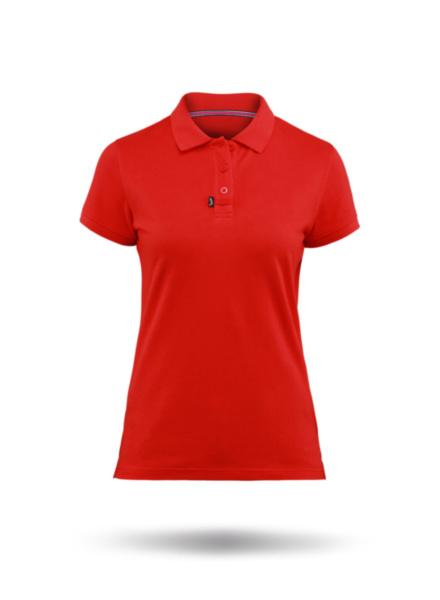 Womens Classic Cotton Polo-RD-XS