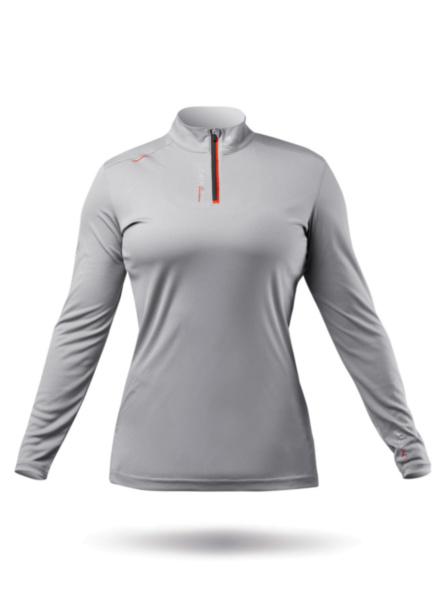 Womens UVActive High Collar 1/4 Zip Top - Grey