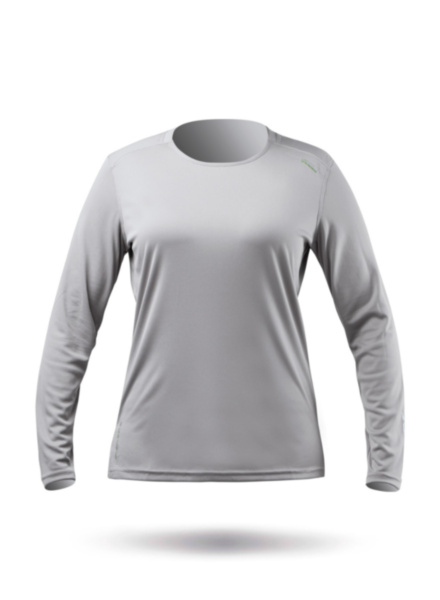 Womens UVActive Long Sleeve Top - Grey-XSS