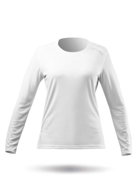 Womens UVActive Long Sleeve Top - White-XSS